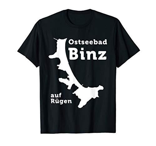 Binz Ostseebad Insel Rügen Stadtkarte Ostsee Geschenkidee T-Shirt