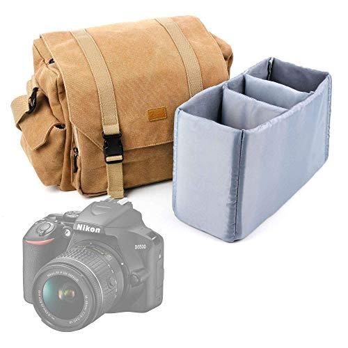 DURAGADGET Mochila Resistente al Agua Motivos Camuflaje Compatible con Canon EOS 4000D, EOS 2000D, Nikon D3500