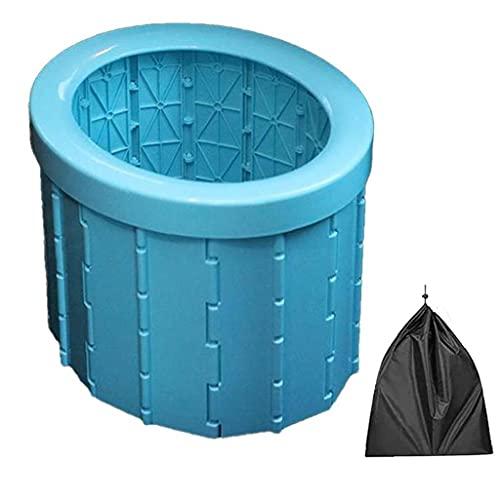 Liadance Lavabo portátil de Camping Plegable ABS, Capacidad de 400 Libras, Bolsa de Basura Rosa