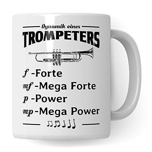 Pagma Druck Trompete Tasse, Musiker Geschenke Trompete, Geschenkidee für Trompeter & Trompetenspieler Becher, Instrument Musik Blechbläser Orchester, Musikverein Deko Kaffeetasse