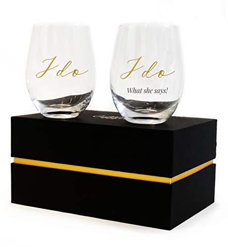 Gifffted Bicchieri Vino per Coppia, Regali Fidanzamento...