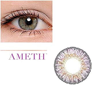 Unisex Contact Lenses Colored Collection Cosmetic Contact Lenses, 12 Months Disposable with Case-Amethyst