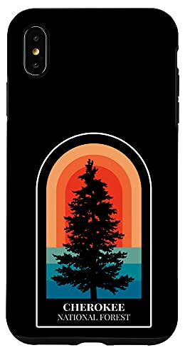 iPhone XS Max Retro Cherokee National Forest Tennessee Hiking Case