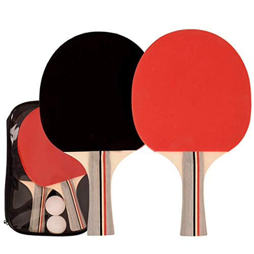 Buy Discount NWHomies Ping Pong Paddles, Portable Table Tennis Package with Rackets and Balls, Ideal...