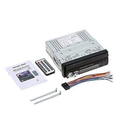 KKmoon Universal-Autoradio 7 Zoll (17,8 cm), BT, Stereo, MP5-Player, GPS-Navigation, einziehbarer Player mit FM, USB, SD