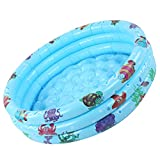 Limouyin Barrera Protectora de Piscina de Juego Inflable Redonda de Agua para niños de Interior de Piscina de bebé Azul para niños(Los 90cm)