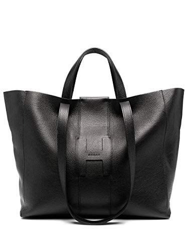 Hogan Luxury Fashion Donna KBW01BA1400O6RB999 Nero Pelle Borsa Shopping | Autunno-inverno 20