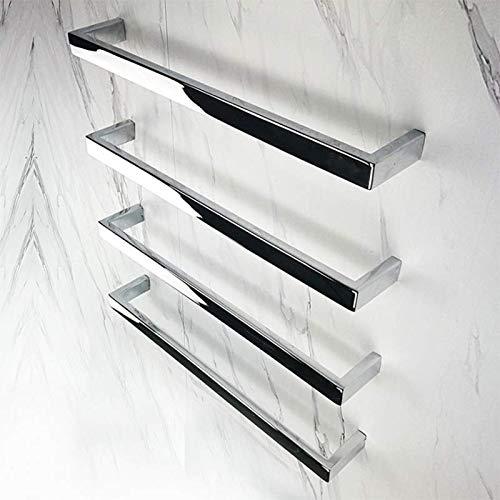 HDLWIS Toalla de baño climatizada para baño de Hotel, Toallero eléctrico Pulido con Espejo de Tubo Cuadrado, No te sientas más el frío de la Toalla,4bar