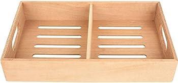 Mantello Spanish Cedar Cigar Tray Adjustable Divider Fits Large Humidors for Humidor or Walk-in Closet 12.5  x 7.5 x 2.25