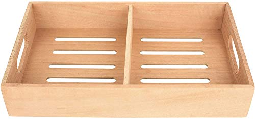 Mantello Spanish Cedar Cigar Tray, Adjustable Divider, Fits Large Humidors, for Humidor or Walk-in Closet 12.5' x 7.5'x 2.25'