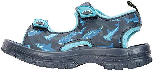 Mountain Warehouse Sandalias Sand para niño - Zapatos con Forro de Neopreno, Sandalias de Verano con Suela Resistente, Calzado con Tira de talón Desmontable Turquesa 32