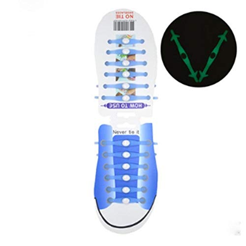 VFDZ Cordones elásticos luminosos de silicona para zapatos...