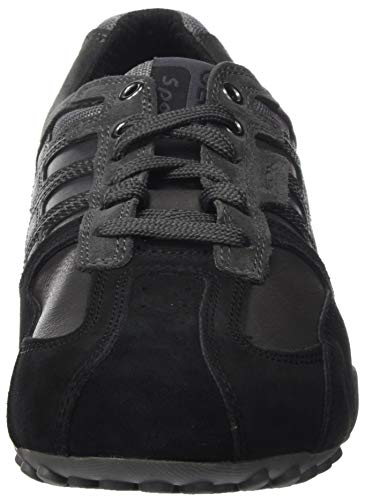 GEOX UOMO SNAKE K BLACK/ANTHRACITE Men's Trainers Low-Top Trainers size 43(EU)
