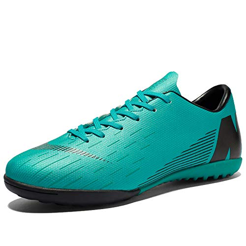 T&F Soccer Shoes Unisex Cleats Athletic Football Boots Kids Comfortable Outdoor/Indoor Turf Training Football Shoes Lightweight Running Sports Shoes Green