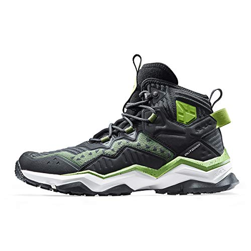 RAX Men's Jungle Wolf Waterproof Hiking Boot Camping Backpacking Shoe(12 US) Black