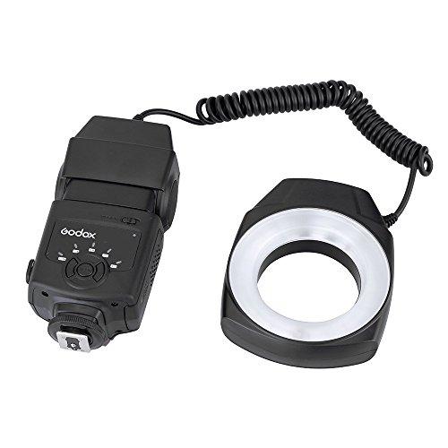 Godox ML-150 Macro Ring Flash Light GN10 con 6 Lentes adaptadores para...