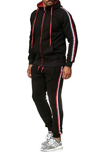 Tazzio Herren Sportanzug Jogginganzug Trainingsanzug Sporthose&Hoodie18221 Schwarz M