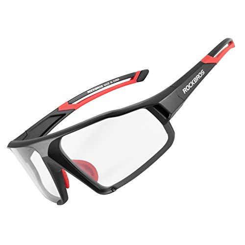 ROCKBROS Gafas Polarizadas/Fotocromáticas Deportivas Protección UV400 para MTB Ciclismo Running Conducir Pescar, para Hombres Mujeres