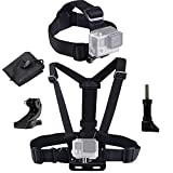 LONDON FAB, Elastic Chest and Head Harness, Strap, Mount, compatible with Gopro and most action cameras
