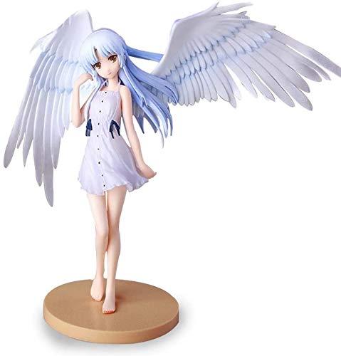 Figura de Anime Angel Beats Tachibana Kanade Girl Modelo de Anime Estatua Decoración Adornos Colección de Arte de Personajes Animados Juguete para niños Regalo-18cm, 1pcs