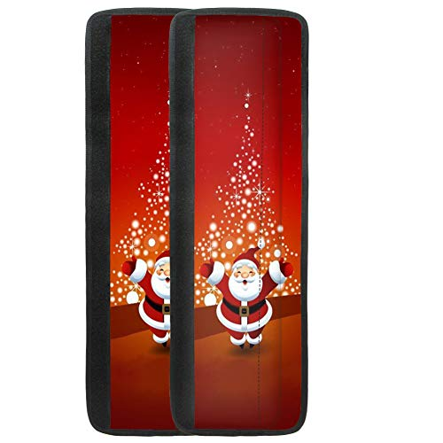 NETILGEN Christmas Refrigerator Door Handle Covers, Santa Claus Printed Cover Handle Refrigerators Doors, 2pcs Anti-skid Protector Gloves Kitchen Appliance Covers for Refrigerator Door