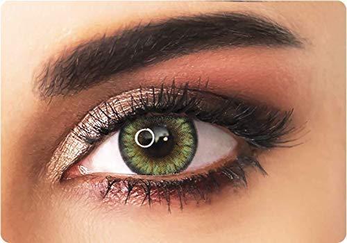 Natürliche farbige kontaktlinsen in gelb- 3 Monaten- ohne Stärke + gratis Kontaktlinsenbehälte -ADORE - BI YELLOW