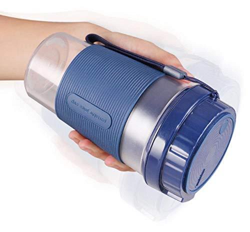 B/H Mini Batidora de Vaso con Cuchillas,Exprimidor portátil Multifuncional, exprimidor automático USB-Azul,Licuadora Portátil Mini Batidora
