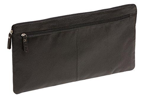 LEAS Banktasche extra groß Echt-Leder, schwarz Special-Edition 33x18x1cm (BxHxT)