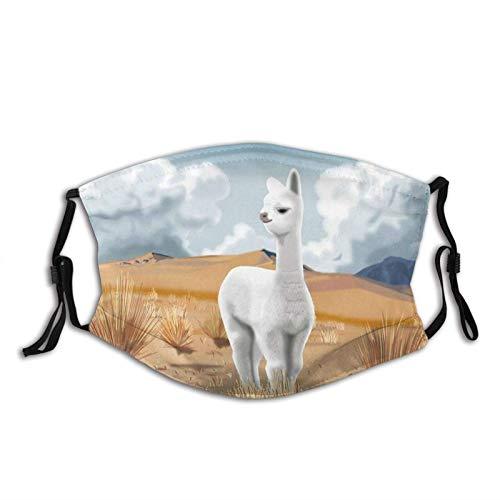 135 So Funny Alpaca Face M-A-S-K - Pasamontañas reutilizable lavable a prueba de polvo, transpirable, resistente al viento, para hombres, mujeres y adultos, Baby Alpaca Andes peruanos, Talla única
