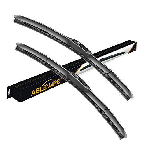 ABLEWIPE Windshield Hybrid Wiper 20' + 20' Front Window J/U Hook Wiper Blades Model 18O13B(Set of 2)