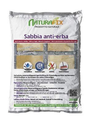 WUEFFE Sabbia Anti-Erba Idrorepellente per Fuga fughe Pavimenti - 5 Sacchi da 20 kg