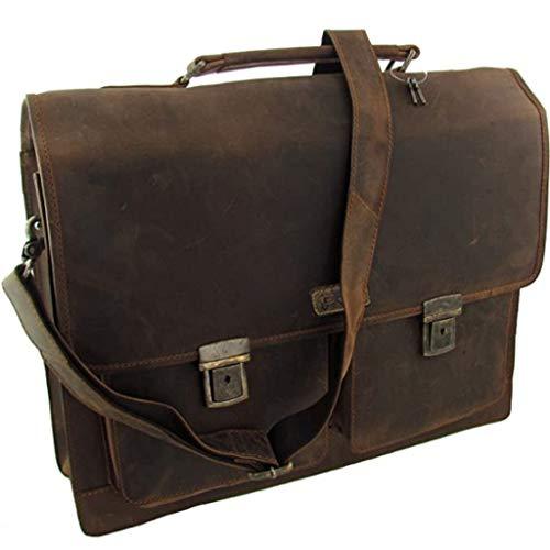 Maletín de cuero de búfalo de agua Pedro, bolso de hombro, bolso de profesor, cuero natural de ventas directas del fabricante