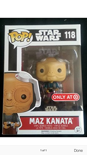 Funk Pop! Star Wars Maz Kanata with Light Saber Target Exclusive by FunKo