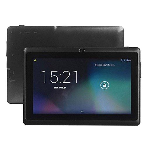 BigFamily Tablet Portátil Android De 7 Pulgadas, Tableta Portátil De 1 + 16 GB para Accesorios De Estudiante - Negro