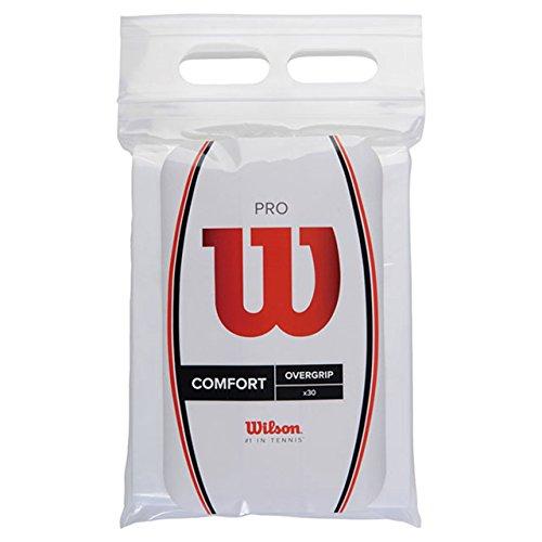 Wilson(ウイルソン) テニス バドミントン グリップテープ PRO OVERGRIP(プロオーバーグリップ) 錦織圭・松友美佐紀使用 30個入り ホワイト WRZ4023WH ウィルソン
