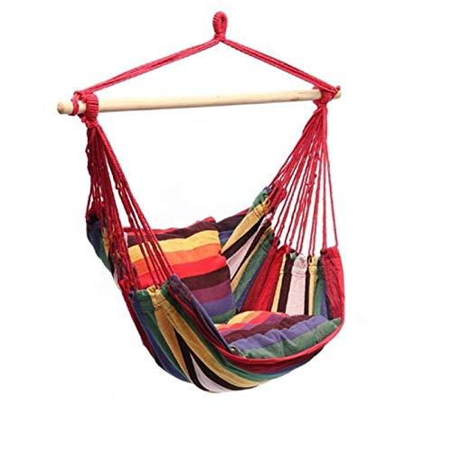 Hamaca para Acampar Al Aire Libre Silla Portátil Columpio De Cuerda Colgante con Almohadas para Jardín Columpios De Moda para Interiores Viajes 2