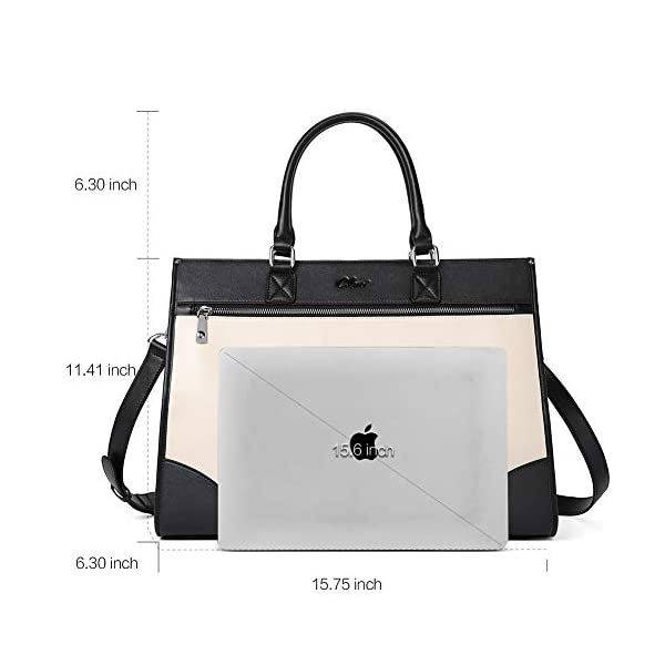 CLUCI Womens Briefcase Oil Wax Leather 15.6 Inch Laptop Business Vintage Ladies Large Capacity Shoulder Bag 3
