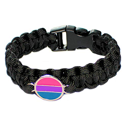 Gay Rainbow Sisters Bisexual Paracord Bracelet