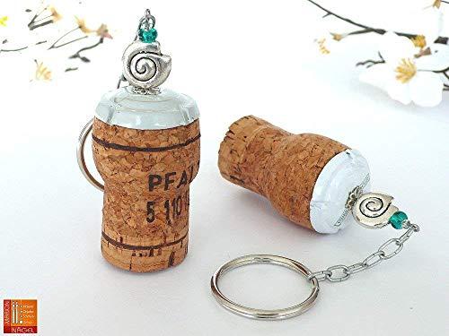 Schlüsselanhänger mit Korken und Schnecke
