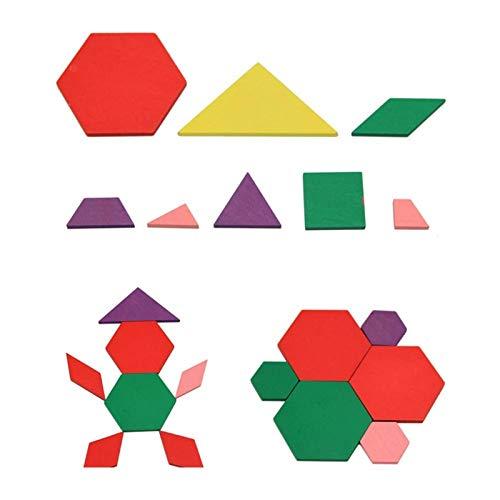 MMI-LX Lyrong Montessori - Rompecabezas geométrico de madera para niños y niñas, juguetes educativos para niños y niñas, para el Año Nuevo o cumpleaños de Navidad