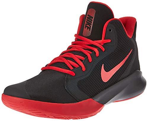 Nike Unisex-Adult Precision III Basketball Shoe, Black/University Red, 11.5 M US