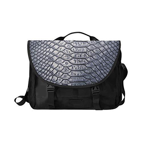Briefcase Laptop Bag for Men Close Snake Skin Texture...