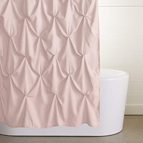 Amazon Basics Pinched Pleat Bathroom Shower Curtain - Blush, 72 Inch