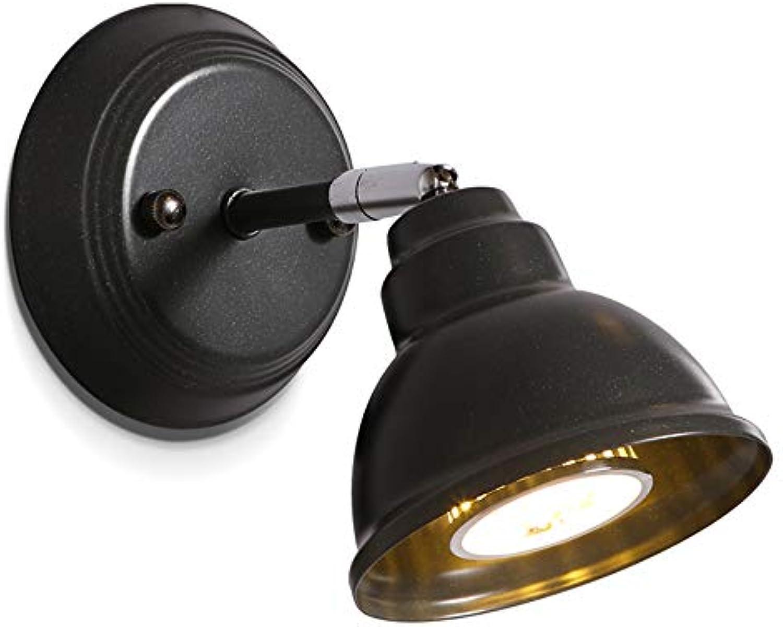 LED Eisen Wandleuchte, Einstellbare Mini Schwarz Dekorative Wandleuchte Moderne Persnlichkeit Wohnzimmer Esszimmer Schlafzimmer Wandleuchten Lesen