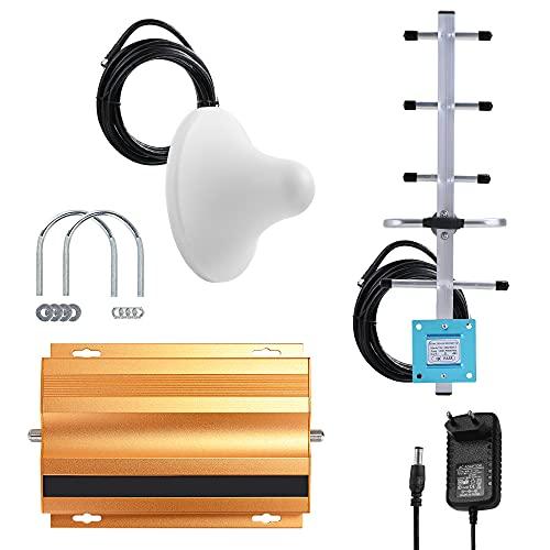 Ripetitore del Segnale, Amplificatore Segnale del Telefono Cellulare AT980 2G GSM900MHz per l amplificazione del Segnale di Punto Cieco in Vari Luoghi Interni