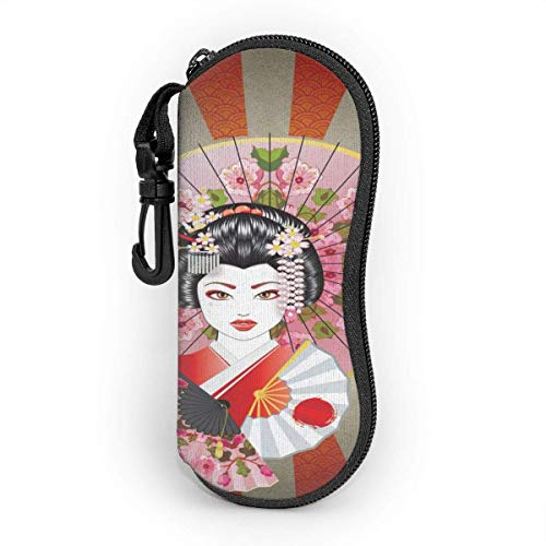 Ives Jean Estuche para gafas Kimono japonés Pretty Woman Retro Gafas de sol suaves Estuche para anteojos Bolsa para hombres Mujeres Viajes