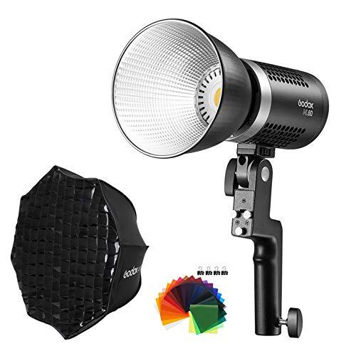 Godox ML60 60W 手持ち式LEDビデオライトとAD-S60Sソフトボックスセット コンパクト