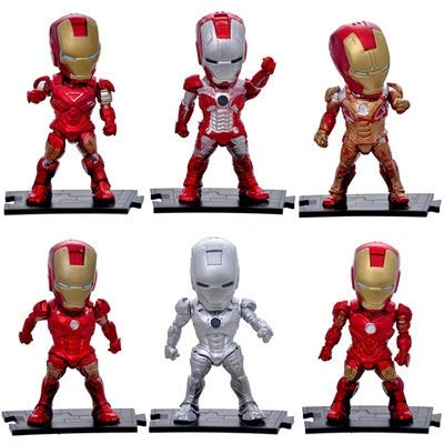 Dhl 6 Estilo Anime Juguetes Vengadores Iron Man Decoración Coche de la...