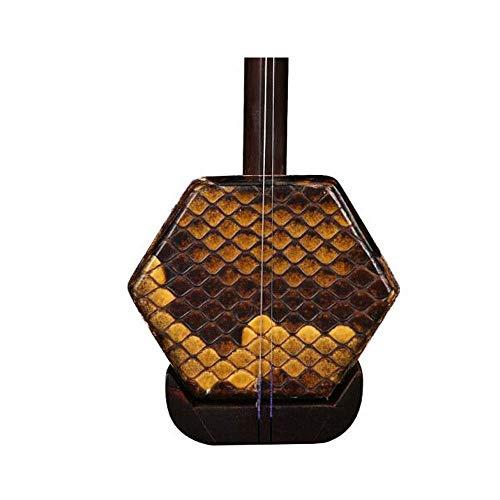Erhu Musikinstrumente, Qingming Altmaterialien Alt Mahagoni Erhu, Spielen Anfänger Erwachsene Musikinstrumente, Sechs-Parteien-Folk-Instrumente, führen Holzschaft + Shock Box HUERDAIIT