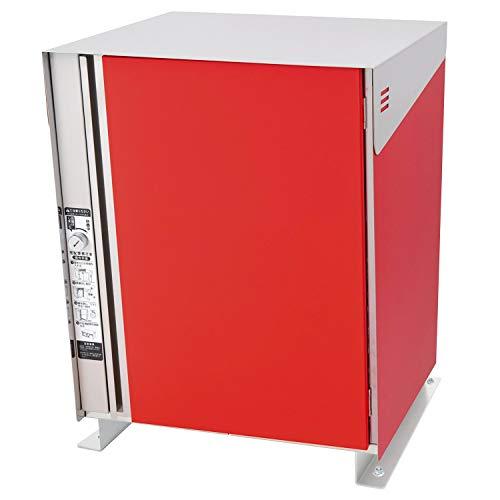 LEON (レオン) サンノゼ クローク 宅配ボックス (新型コロナで非対面での受け取り可能、設置は電気工事不要) 戸建て用 屋外 ディンプルキー付 70L 大型 大容量 ステンレス製 日本製 据え置きベースセット レッド